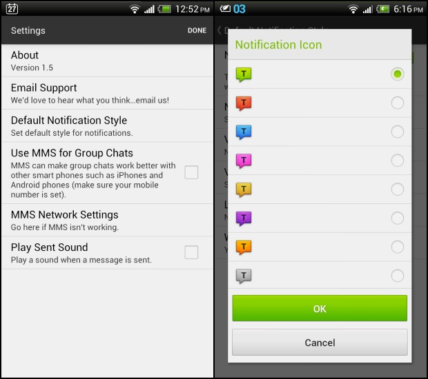 textra sms messaging app