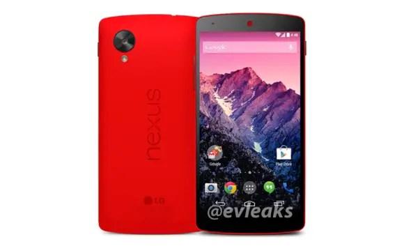 Red Colored Nexus 5 Press Image