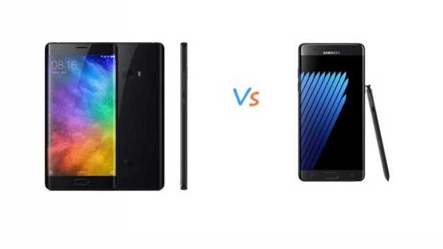 Xiaomi Mi Note 2 Vs Samsung Galaxy Note 7
