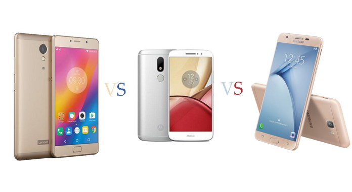 Lenovo P2 vs Motorola Moto M vs Samsung Galaxy On Nxt