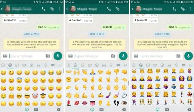 Android 7.1 Emojis