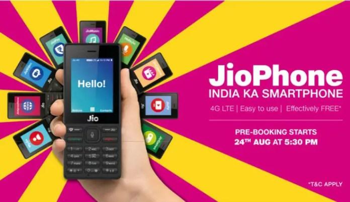 Jio Phone pre-order