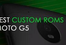 moto g5 custom roms