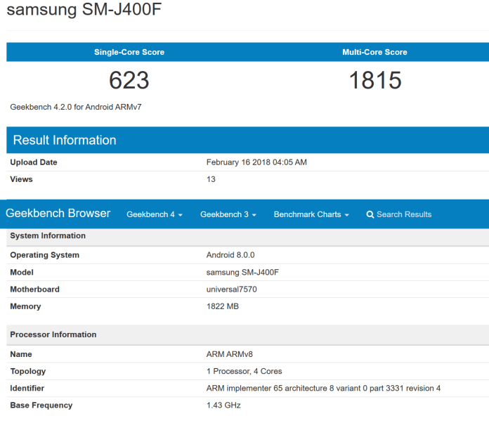 Samsung-Galaxy-J4-GeekBench-Leak