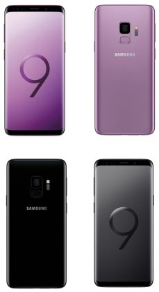 Samsung-Galaxy-S9-Midnight-Black-Lilac-Purple-Render-Leak