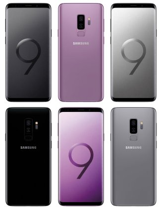 Samsung-Galaxy-S9-Plus-Midnight-Black-Lilac-Purple-Render-Leak