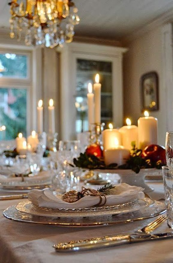 Lyrical and lovely Holiday tablescape