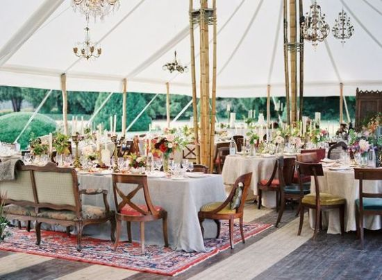Mismatching For A Charming Vintage Ambiance Photo Credit: Steve Steinhardt Photography