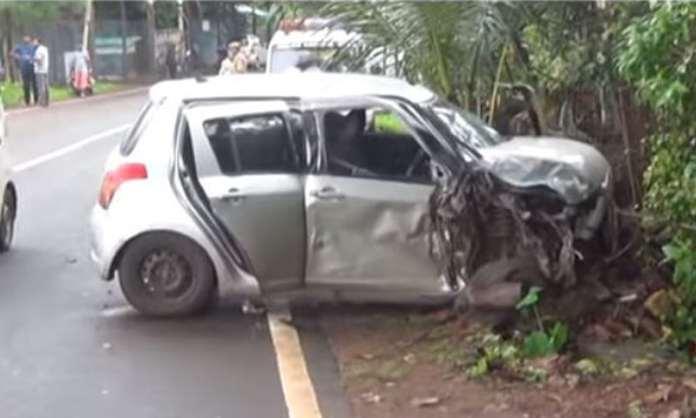 Rent Car rammed Kadamba Bus Vasco da Gama eight injured