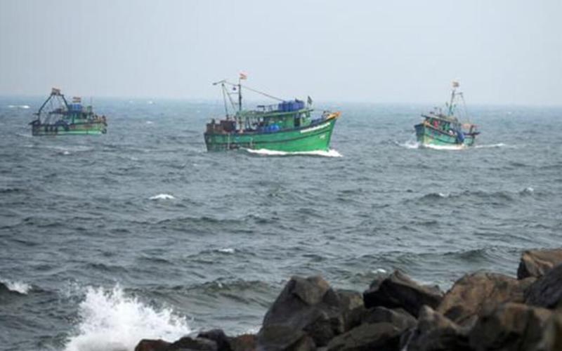 Fishing Trawlers in South Goa Coast