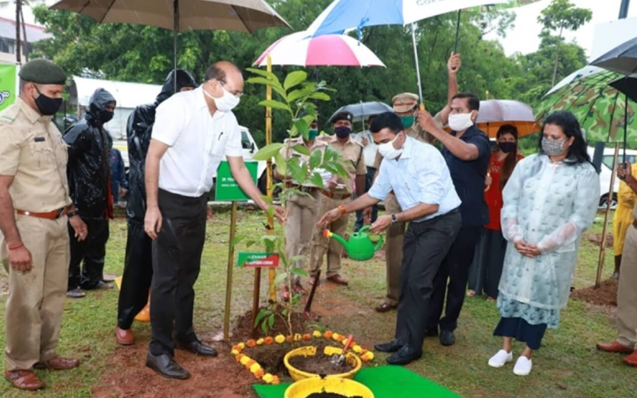 CM Sawant Watering Plant