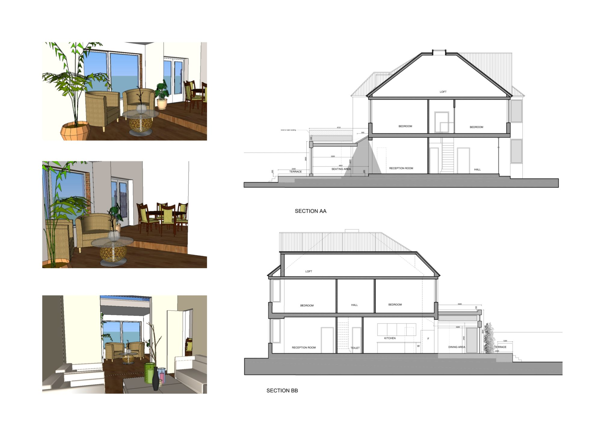 Grove Park Lewisham Se12 House Rear Extension Design Sections And 3d Images