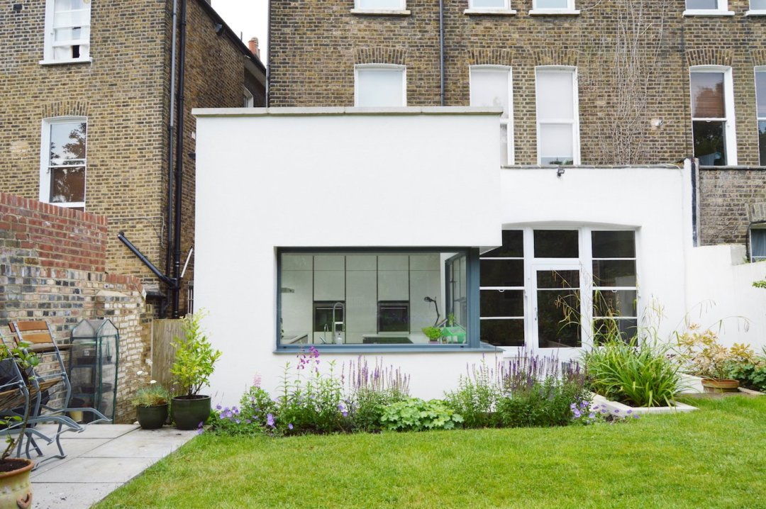 Architect designed garden flat extension Kilburn Brent NW2 External elevation Flat extensions in London | Home ideas