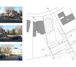 01 Highgate Haringey N6 House development Site plan 300x266 Highgate I, Haringey N6   Residential property development