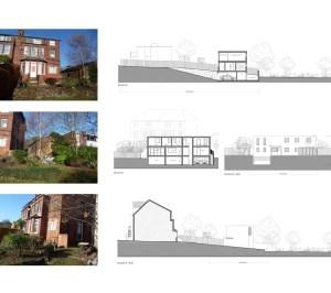 02 Highgate Haringey N6 House development Site sections 2 300x266 Highgate I, Haringey N6   Residential property development