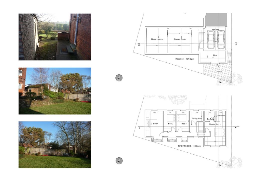 04 Highgate Haringey N6 House development Upper floor plans 1200x800 Highgate I, Haringey N6   Residential property development