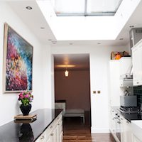 Architect designed flat extension Warwick Avenue Westminster W9 Kitchen area West London residential architecture projects