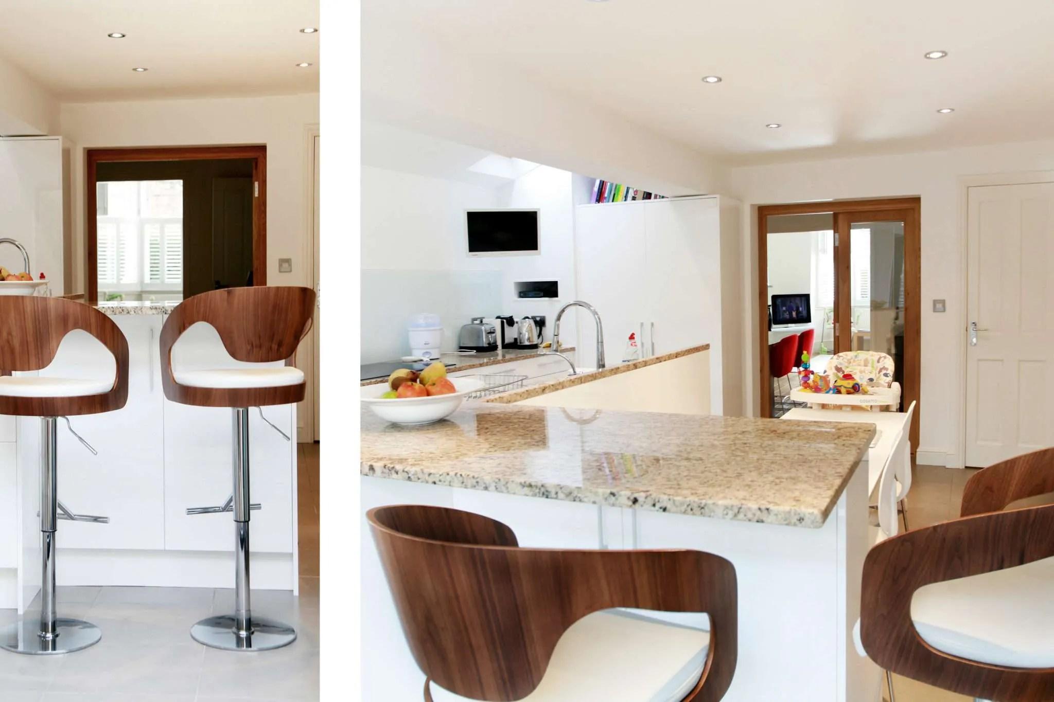 Architect designed house extension Highbury Islington N5 Side ...