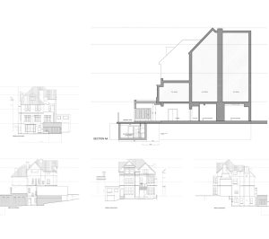 Finchley road Camden NW3 Flat extension Design sections and elevations 1 300x266 Finchley Road, Camden NW3 | Flat extension