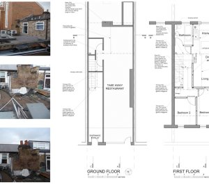 Architect designed flat extension Hammersmith Fulham W12 G F design plans 300x266 Stamford Brook, Hammersmith and Fulham W12 | Flat extension
