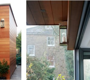 Architect designed house extension Brockley Lewisham SE4 Relationship of internal and external spaces 300x266 Brockley, Lewisham SE4 | House extension