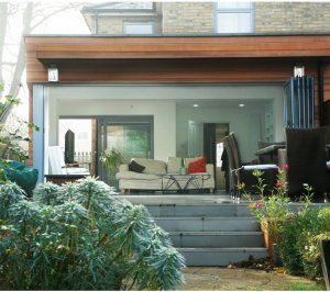 Architect designed house extension Brockley Lewisham SE4 View from the garden 300x266 Brockley, Lewisham SE4 | House extension