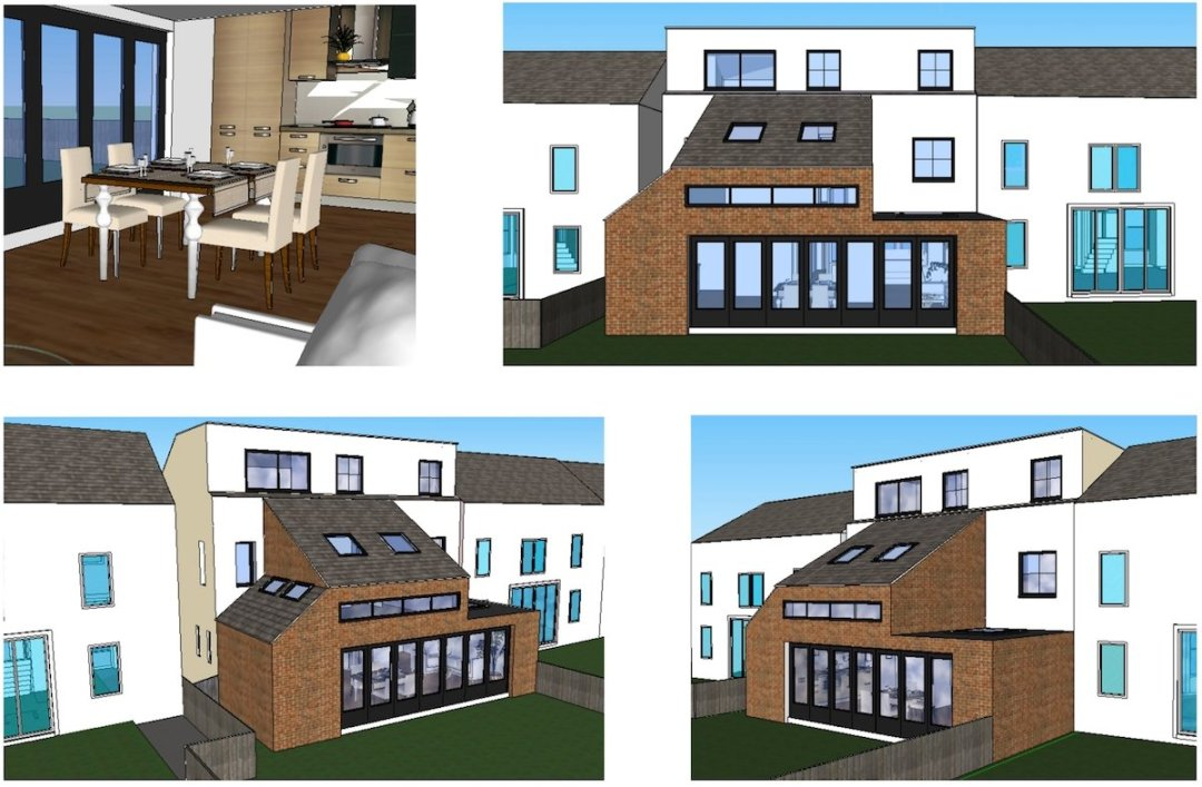 Architect designed house extension Chiswick Hounslow W4 Design 3D images 1200x786 Chiswick, Hounslow W4 | House extension