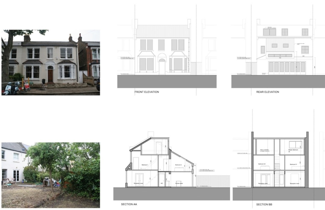 Architect designed house extension Chiswick Hounslow W4 Design sections and elevations 1200x774 Chiswick, Hounslow W4 | House extension