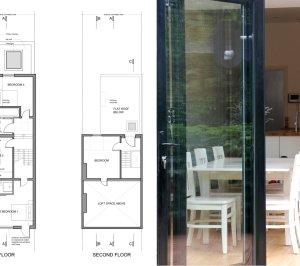 Architect designed house extension East Finchley Barnet N2 Floor plans 300x266 East Finchley, Barnet N2 | House extension