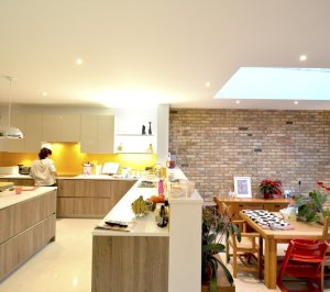 Architect designed house extension Grange Park Enfield N21 Kitchen and dining areas 1 300x266 Grange Park, Enfield N21 – House extension and alterations