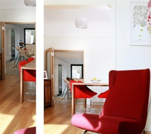 Architect designed house extension Highbury Islington N5 Ground dinning and living areas 300x266 Highbury, Islington N5 | House extension