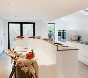 Architect designed house extension Highbury Islington N5 Ground floor kitchen area 300x266 Highbury, Islington N5 | House extension