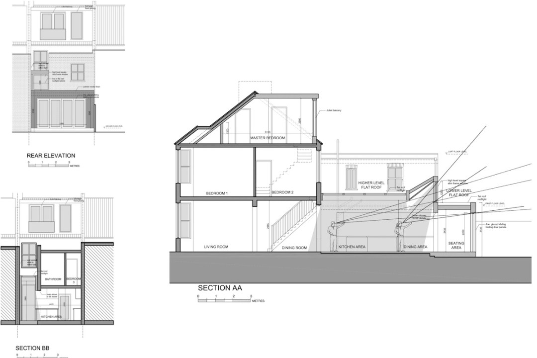 Architect designed house extension West Hampstead Camden NW6 Design sections and elevations 1200x800 West Hampstead, Camden NW6 | House extension