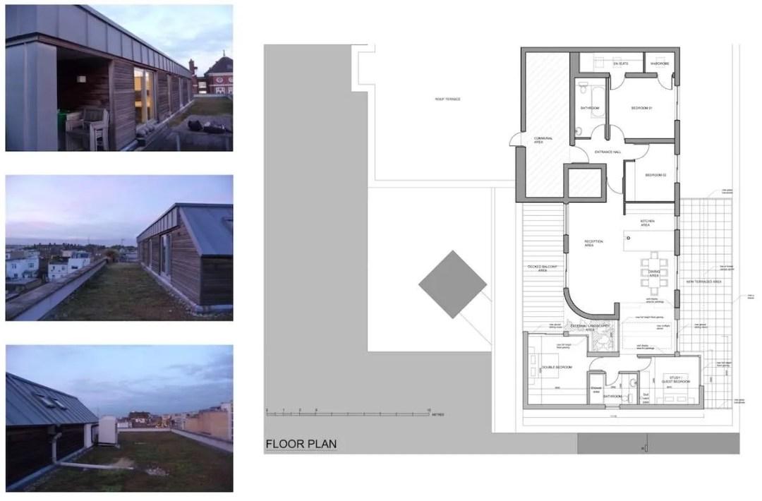 Architect designed penthouse extension Angel Islington N1 Floor plan 1200x789 Angel, Islington N1 | Penthouse extension