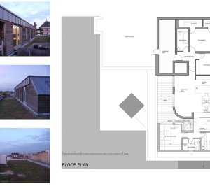 Architect designed penthouse extension Angel Islington N1 Floor plan 300x266 Angel, Islington N1 | Penthouse extension