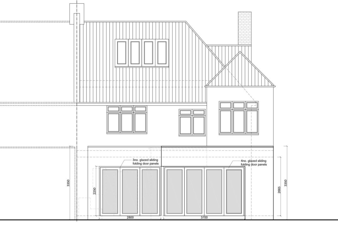 Architect designed rear house extension Muswell Hill Haringey N10 Rear elevation Muswell Hill, Haringey N10 | Rear house extension