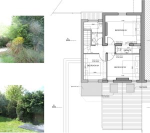 Architect designed residential extension Barnet EN5 First floor plan 1 300x266 High Barnet EN5 | Locally Listed house extension