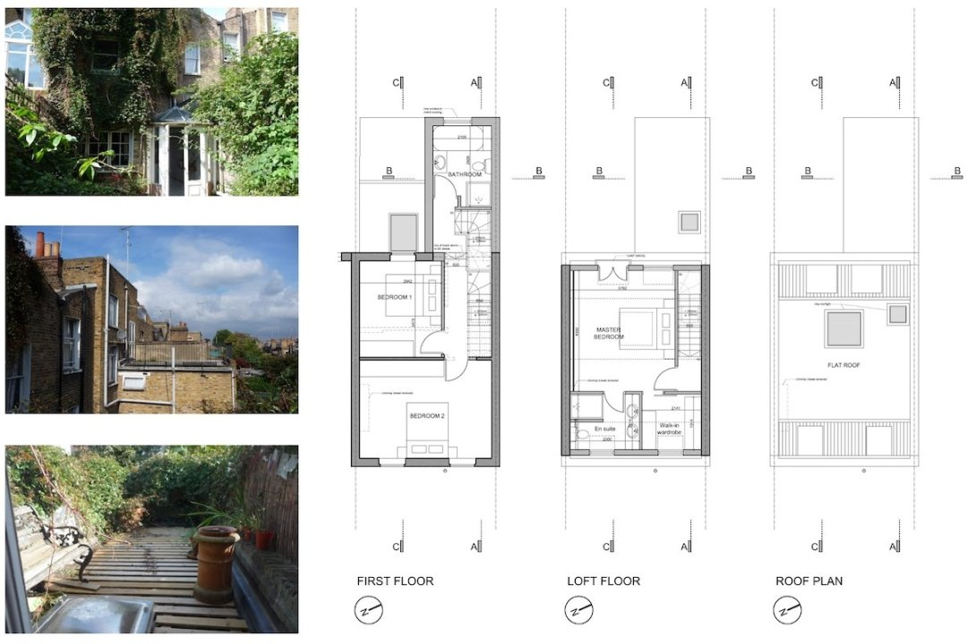 Shepherds Bush Hammersmith Fulham W14 House extension Upper floor design plans 1200x800 Shepherd's Bush, Hammersmith Fulham W14 | House extension