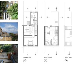 Shepherds Bush Hammersmith Fulham W14 House extension Upper floor design plans 300x266 Shepherd's Bush, Hammersmith Fulham W14 | House extension
