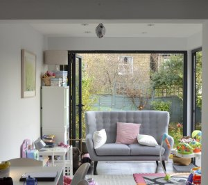 Architect designed rear house extension Penge east Bromley SE26 Play area 1 300x266 Penge East, Bromley SE26 | Rear house extension