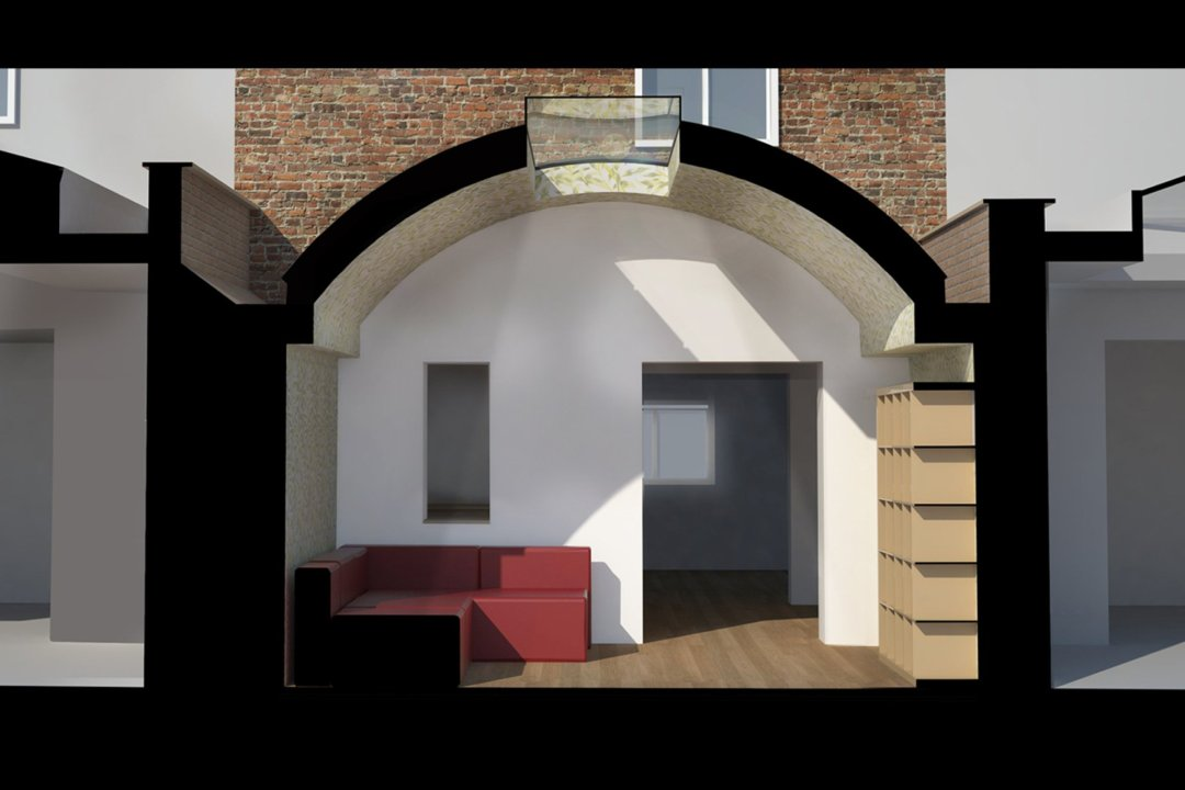 Angel Islington N1 Listed House rear extension – 3D Section 1200x800 Angel, Islington N1 | Listed house rear extension