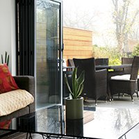 Architect designed house extension Brockley Lewisham SE4 View inside out 200x200 House extensions London | Home design