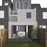 Architect designed house extension West Hampstead Camden NW6 – 3D visual 200x200 Camden residential architect projects