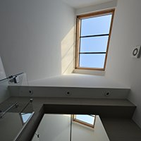 Architect designed house extension with full refurbishment Lewisham SE13 Bathroom rooflight 200x200 Honor Oak Park, Lewisham SE23 | Kitchen extension