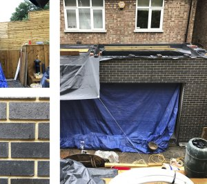 Architect designed rear house extension Highgate Haringey N6 – Site photo 1 300x266 Highgate, Haringey N6 | Rear house extension