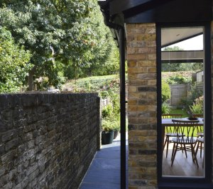 Nunhead Lewisham SE15 House kitchen extension – Side through view 300x266 Nunhead, Lewisham SE15 | House kitchen extension