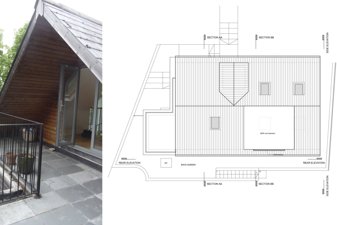 Architect designed roof extension Shortlands Bromley BR1 Roof plans 1200x800 Shortlands, Bromley BR1 | Roof extension