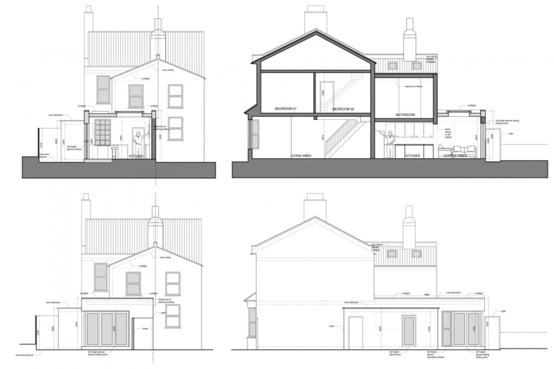 Enfield Chase EN2 Rear house extension refurbishment Sections and elevations 1200x800 Enfield Chase EN2 | Rear house extension and refurbishment