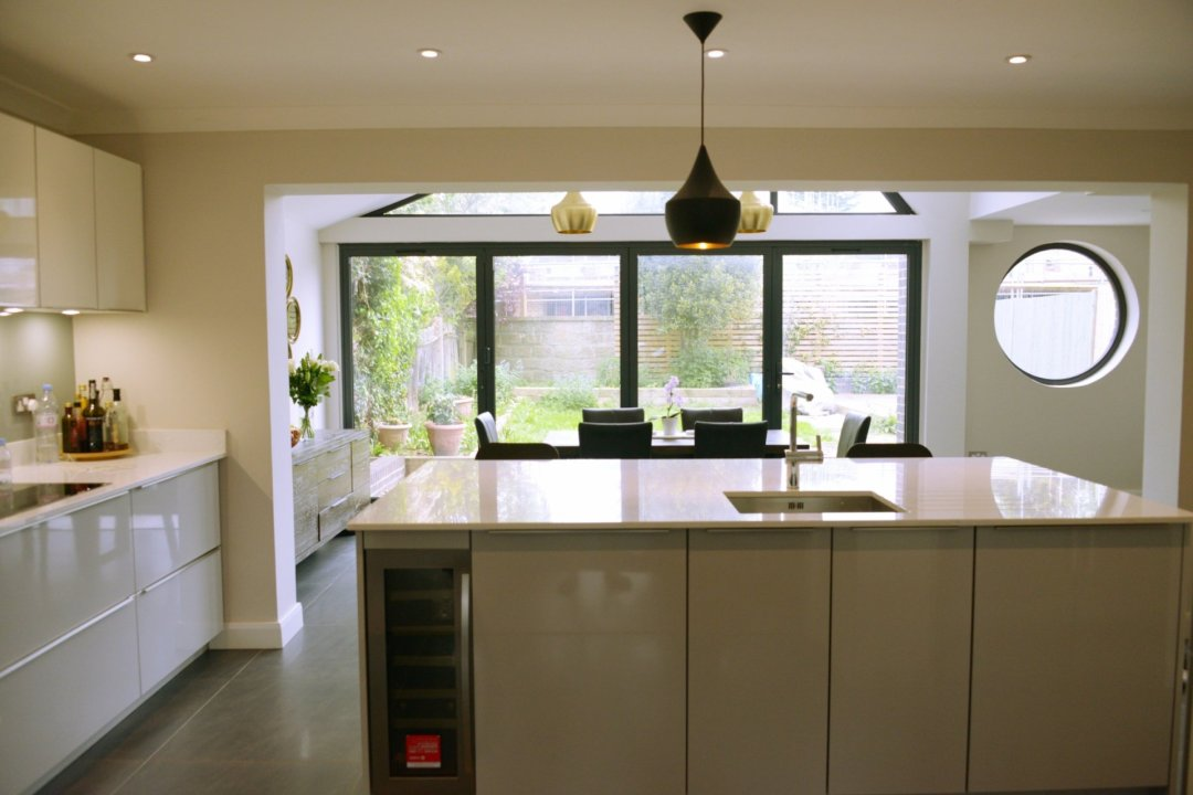 Architect designed roof and kitchen house extension Kingston KT2 View to the garden 1200x800 Kingston KT2 | Roof and kitchen house extension