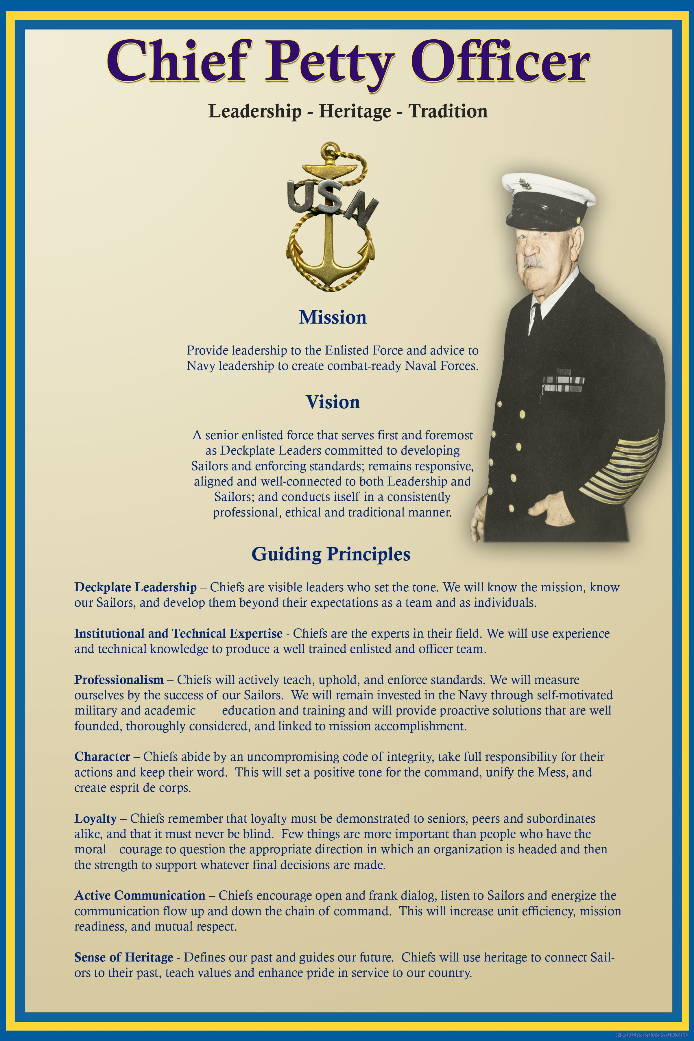 Navy Chief Leadership Quotes Quotesgram